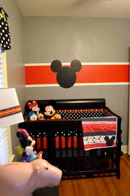 I Love The Drapes Also The Mickey Icon On The Wall Great Use Of