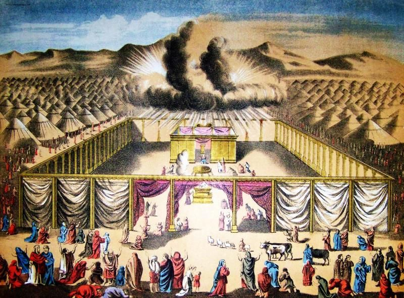 Exodus 40:18-38 | Bible Stories in Pictures | The tabernacle