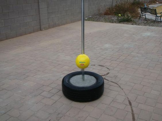Make Your Own Tetherball Stand. Use A Pole, Old Tire, And Cement. Outdoor  GamesOutdoor ...