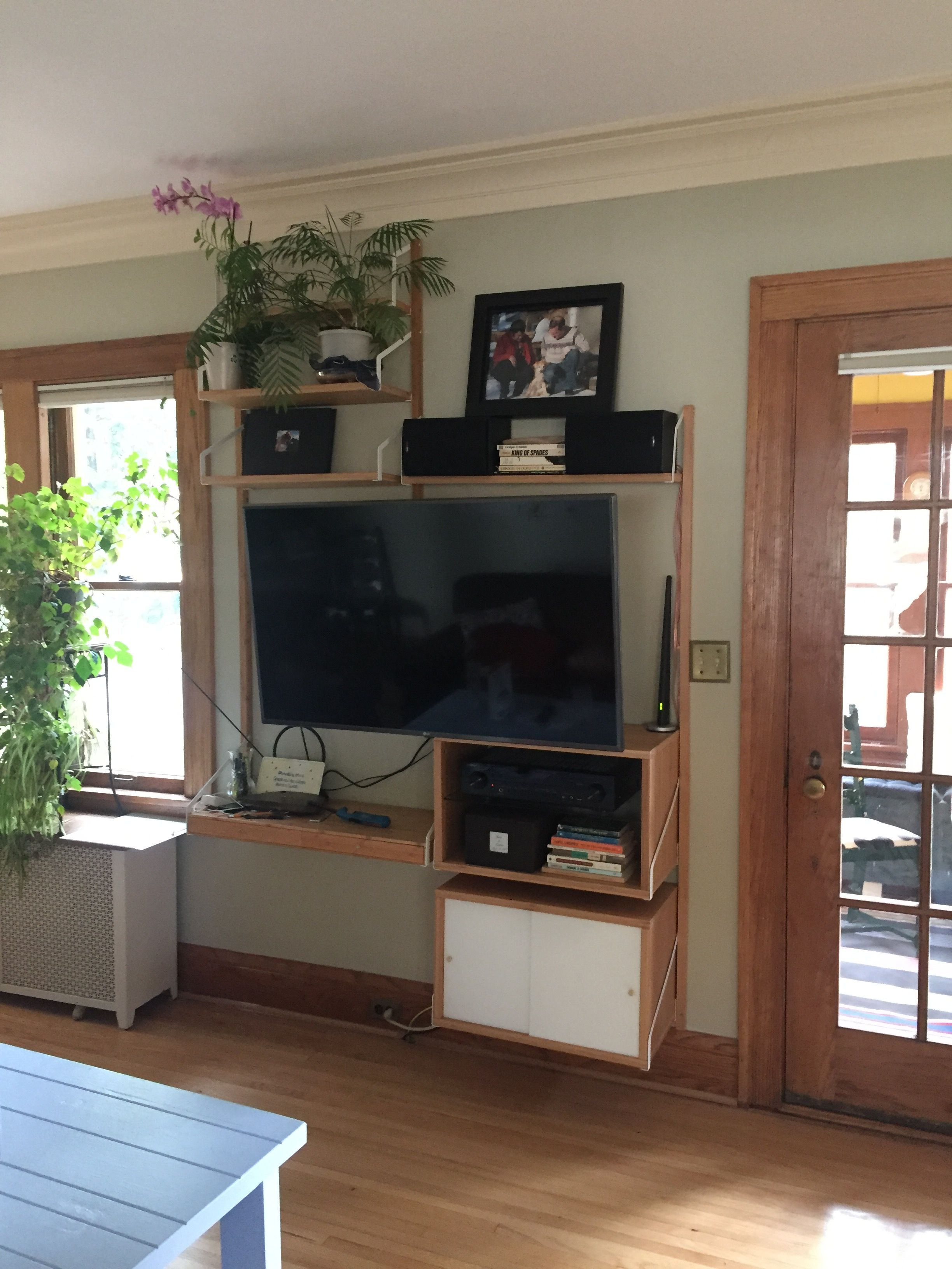Ikea Svalnas Wall Solution Media Wall Tv Entertainment Center  # Solution Meuble Tv