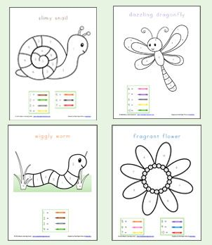 Color By Number Preschool Worksheets