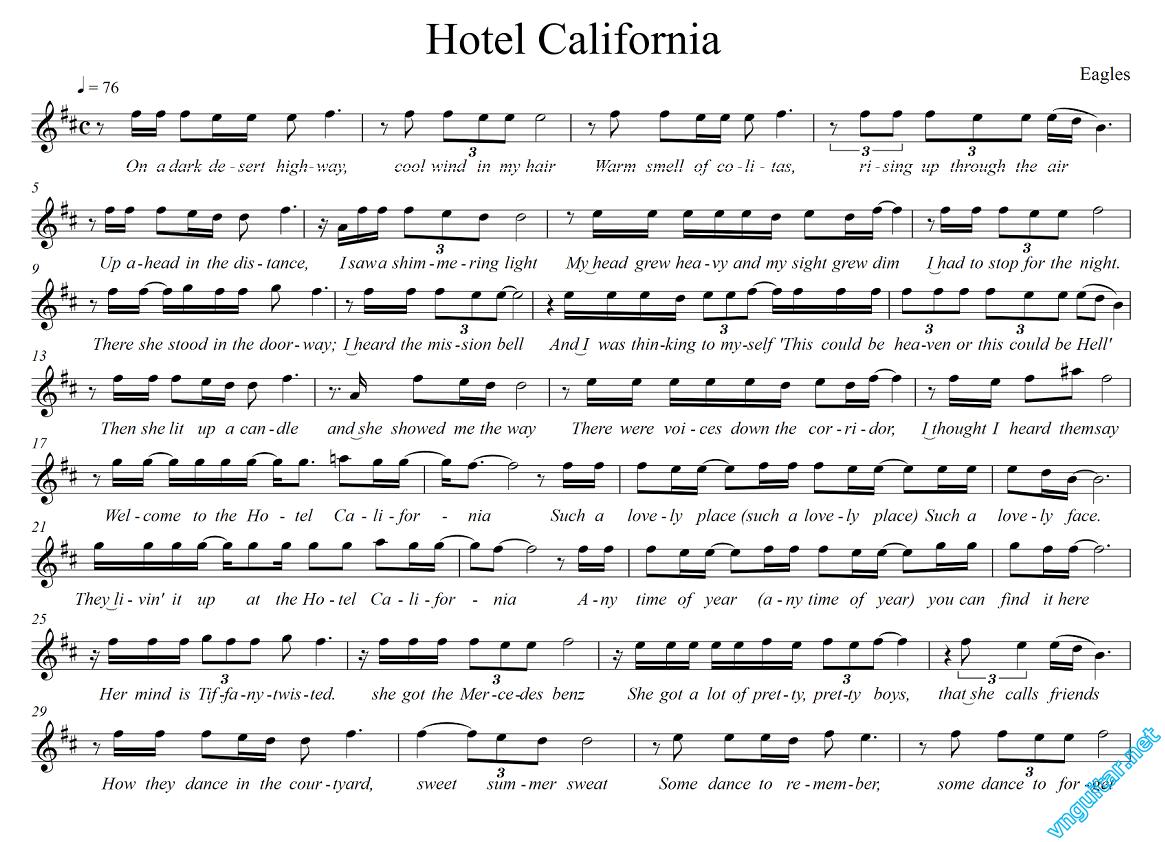 Sheet notes chords hotel california eaglas vn guitar kt sheet notes chords hotel california eaglas vn guitar kt ni cng hexwebz Images