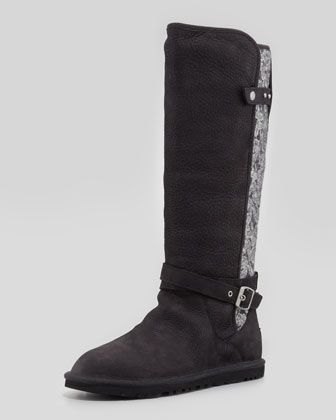 cba79042dbf Marielle Tall Lace-Back Boot, Black by UGG Australia at Neiman ...