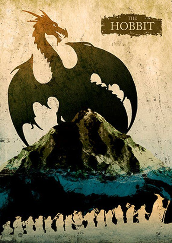 The Hobbit Minimalist Movie Poster Products In 2019 The Hobbit