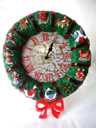 Avon Musical 12 Days Of Christmas Wreath Clock Luminated Avon Http Www Amazon Com Dp B00fsve9sk Ref Cm Sw R Pi Dp 12 Days Of Christmas Christmas Clock Clock