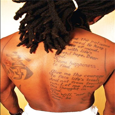 268a4105f Lil Wayne back tattoo | Cool ass tattoo ideas | Lil wayne, Verse ...