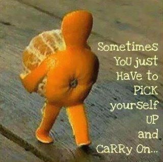Sometimes you just have to pick yourself up and carry on... #orangeart