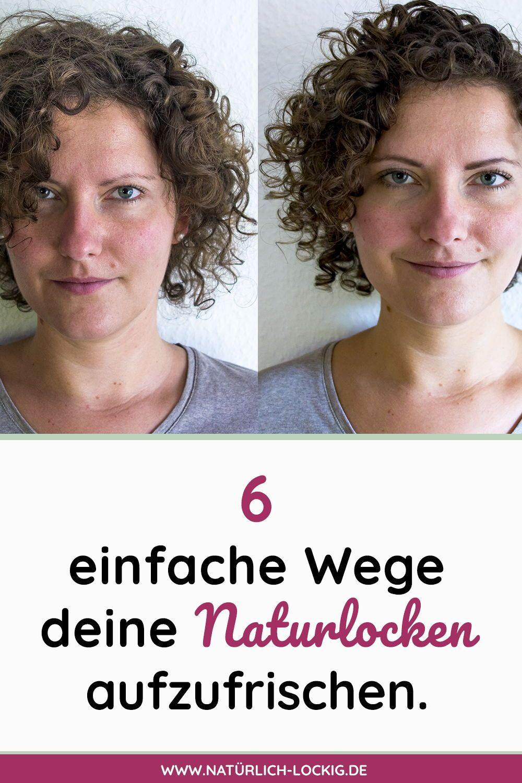 5 Einfache Techniken Um Deine Locken Wieder Aufzufrischen Locken Machen Haare Pflegen Naturlocken