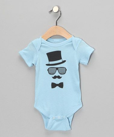 Take a look at this Light Blue Gent Bodysuit Infant by