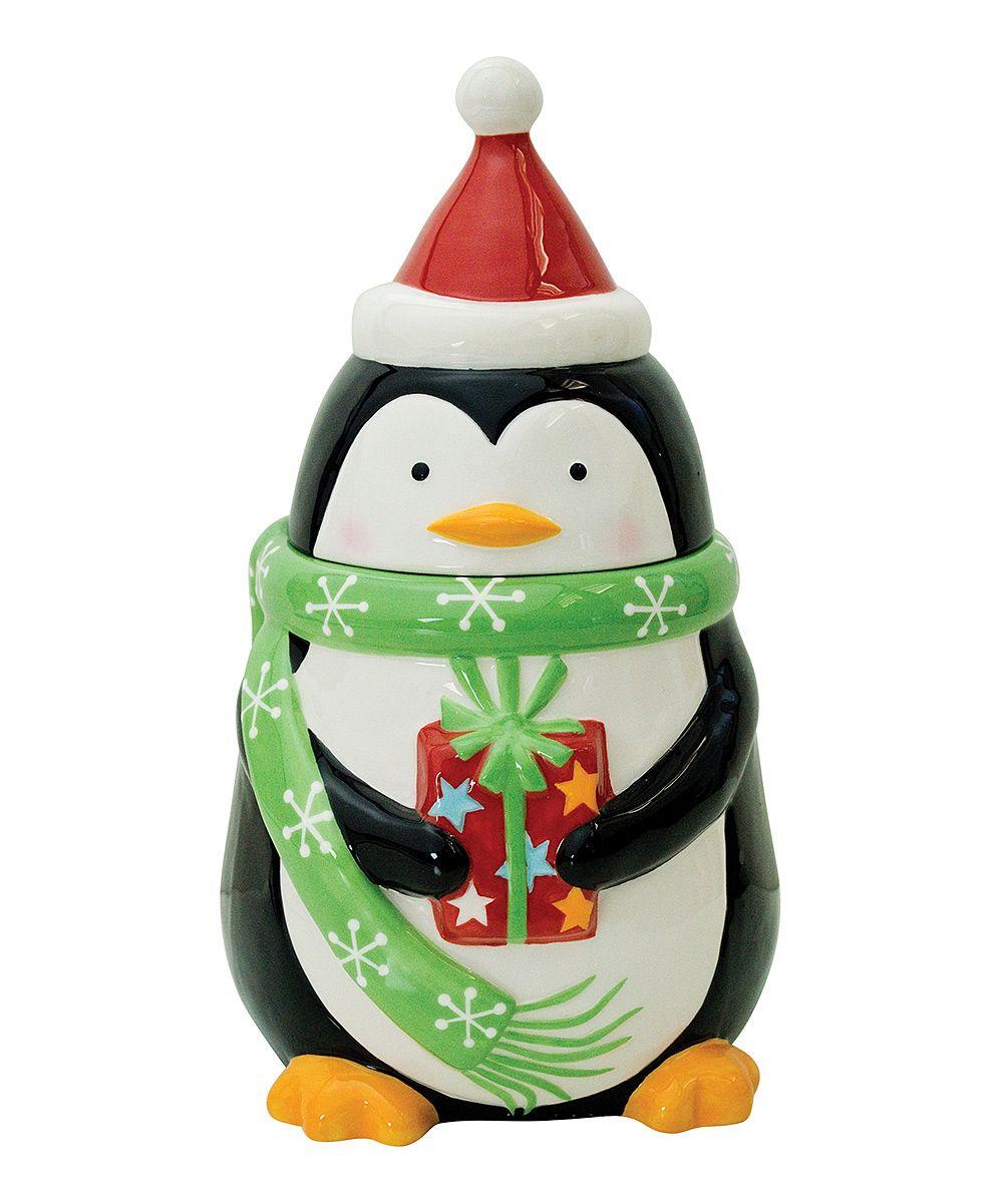 Merry Penguin Cookie Jar | zulily