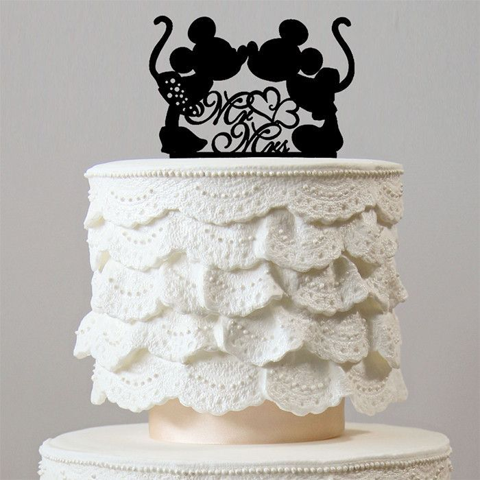 Creative Cake Topper Sweet Mickey Minnie Mouse Theme Inspired Wedding