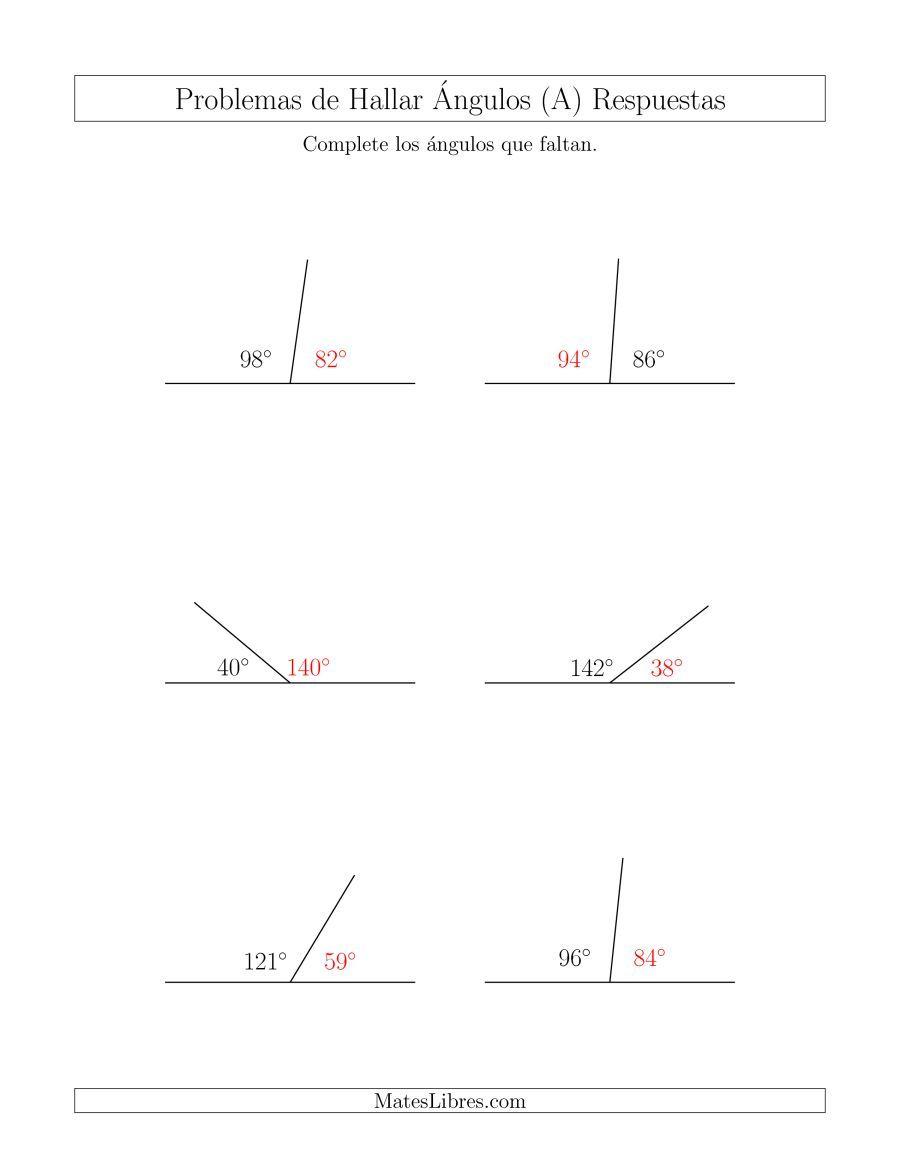 Relacion Entre Angulos Suplementarios A Pagina 2 Hojas De Ejercicios De Geometria Angulos Matematicas Geometria Angulos