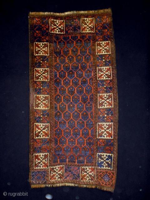 1880 Timuri Belouch Size 71x140cm (2.4x4.7ft) Natural