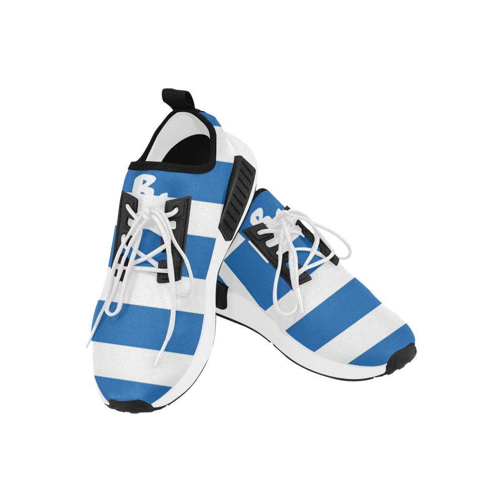 Greek Flag Men's Custom Sneakers - BU
