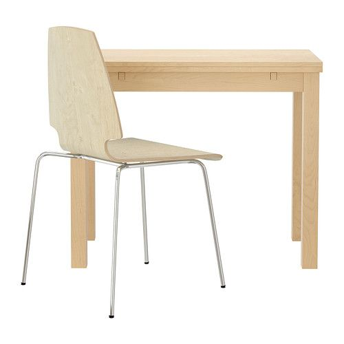 BJURSTA/VILMAR Table and 1 chair IKEA Dining table with 2 pull-out ...