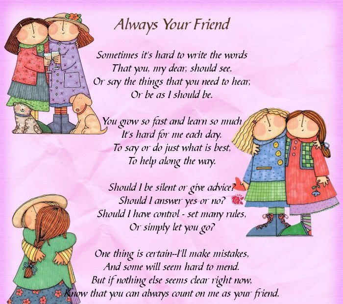 Friendship Day Poems in English | Best Friends/Sisters | Pinterest ...
