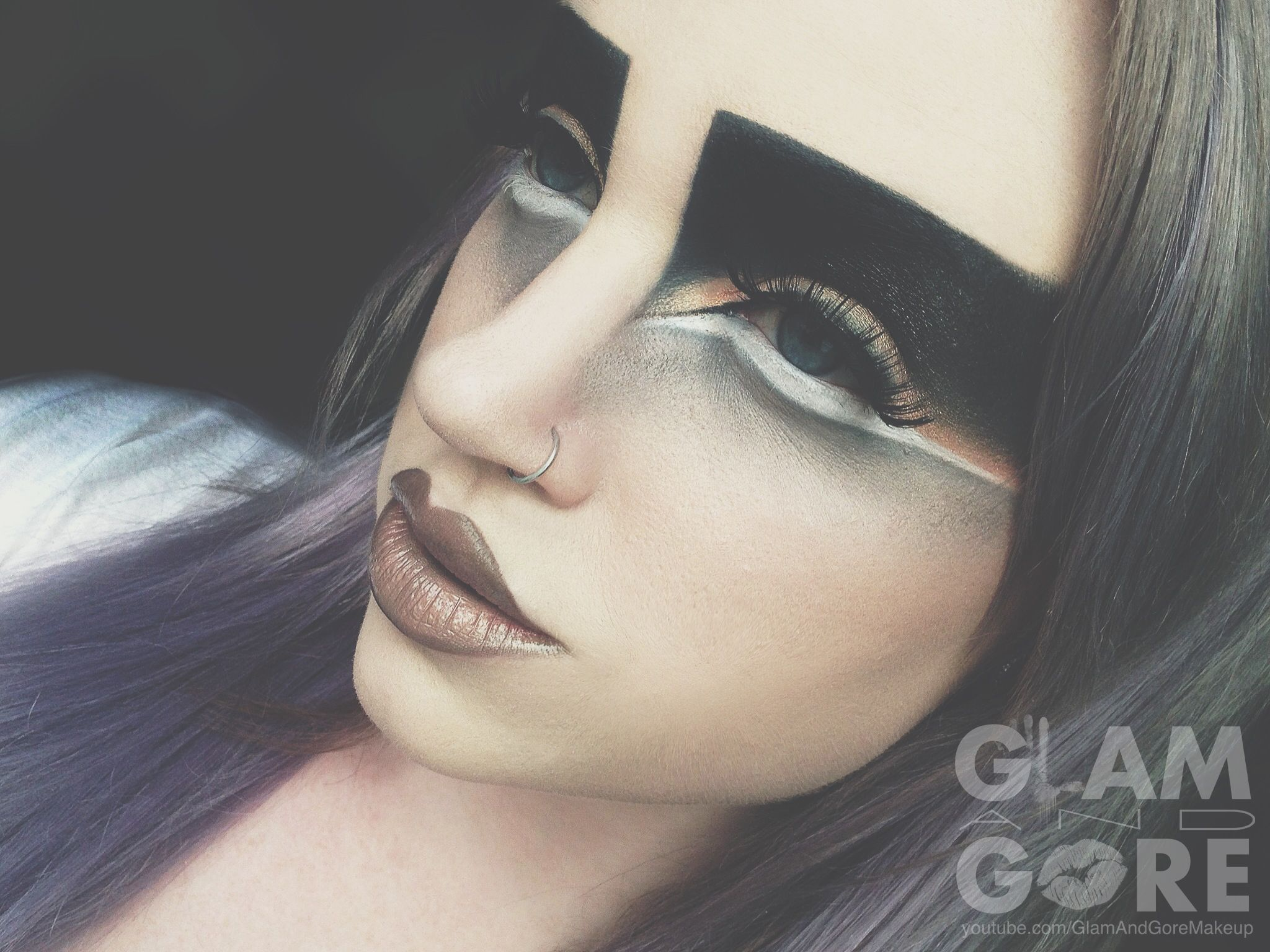Avant Garde And Animalistic High Fashion Eye Makeup Look