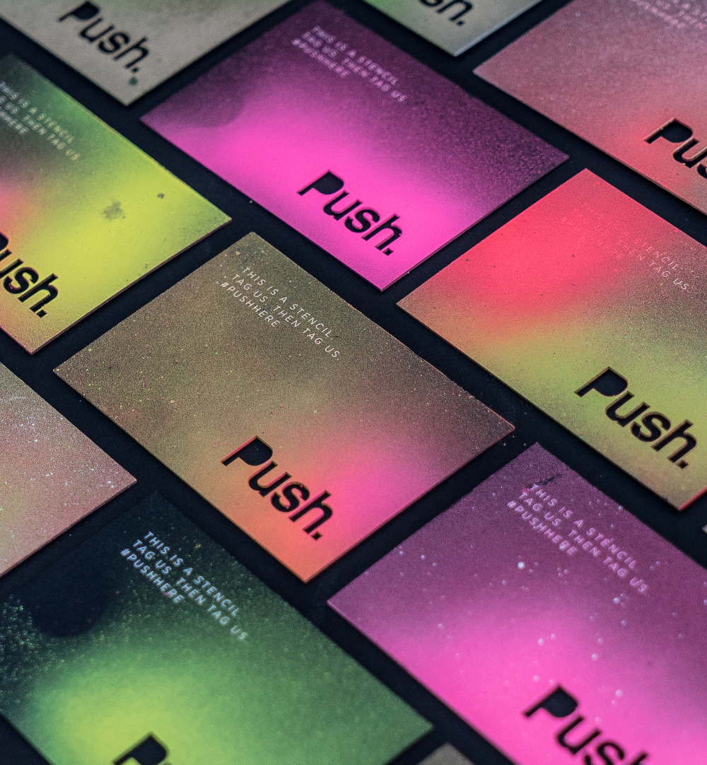 Push Business Cards On Behance Business Cards Business Card Design Cards