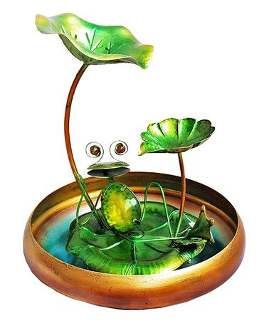 Look what I found on #zulily! Metal & Glass Frog Fountain #zulilyfinds