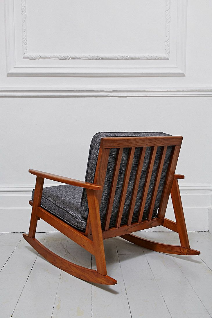 Mid Century Rocking Chair in Timber - Urban Outfitters