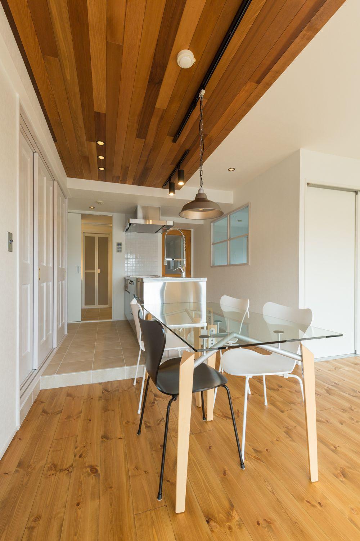 羽目板天井のキッチン おしゃれまとめの人気アイデア Pinterest