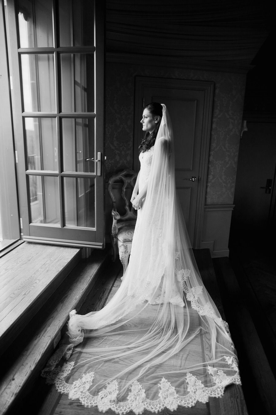 Talk about a stunning veil  Forever Amour Bridal (212) 486- 2900 www.ForeverAmourBridal.com New York, New York 10022