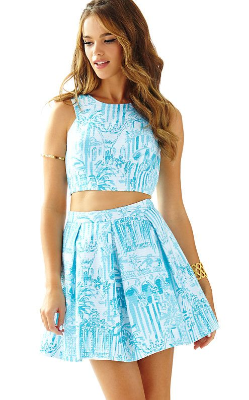 fe9beb0243c Melody Crop Top   Pleated Skirt Set - Lilly Pulitzer