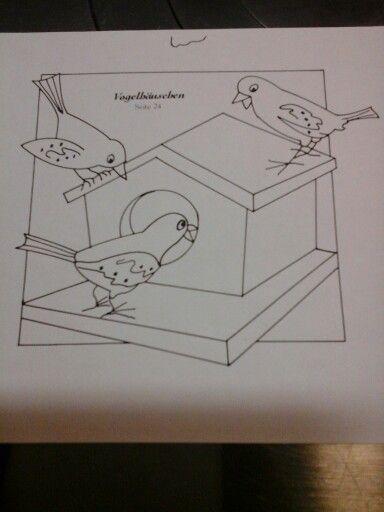 vogelhaus malvorlagen template pinterest v gel basteln und haus. Black Bedroom Furniture Sets. Home Design Ideas