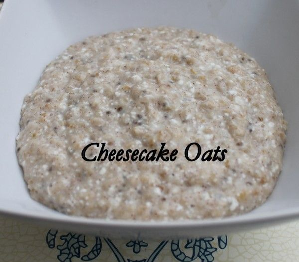 cheesecake oats with whipped cottage cheese
