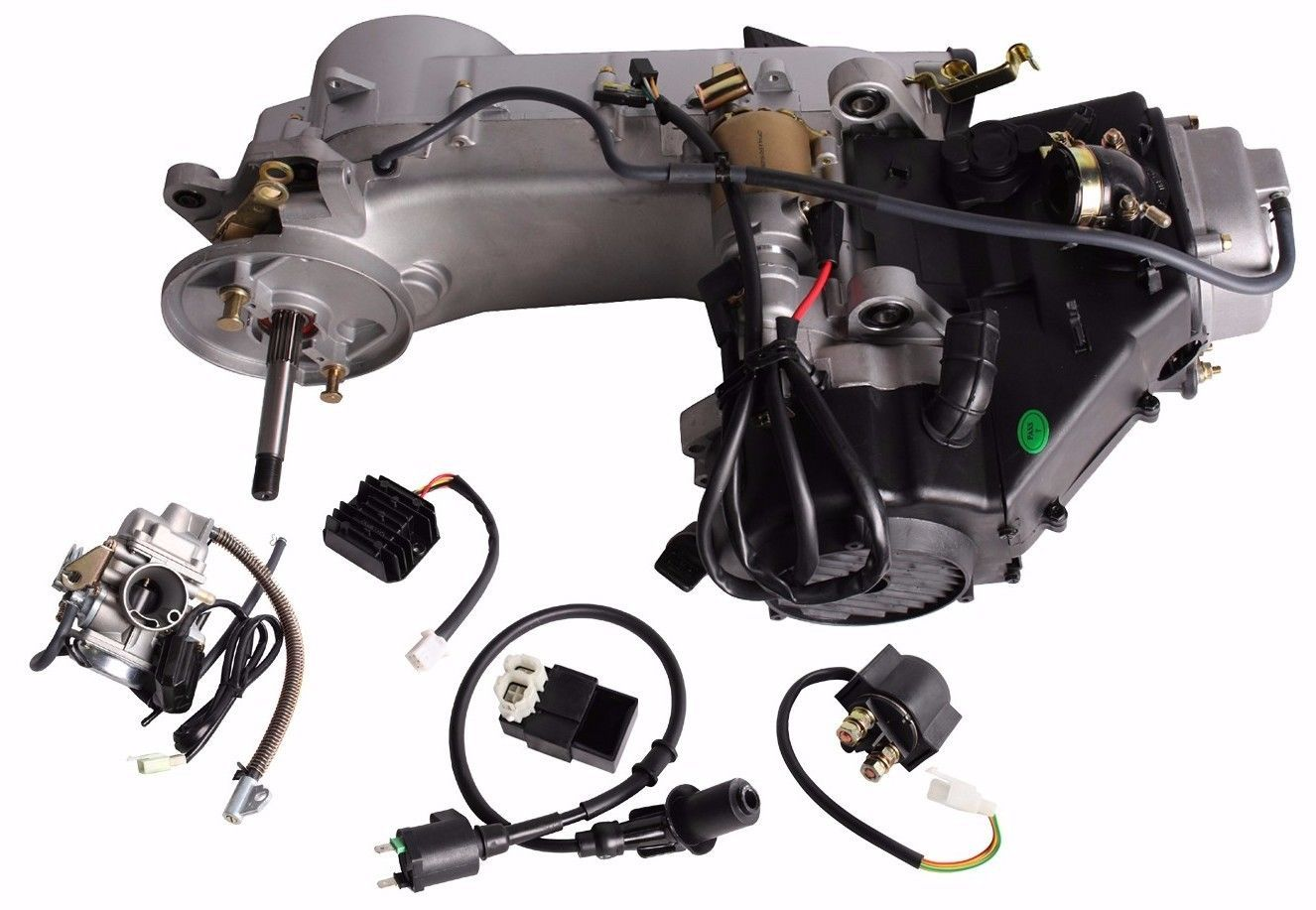 Details about Long Case 150CC GY6 Moped Scooter Engine Motor