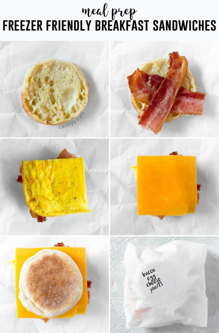 Skip The Drive Thru In The Morning And Make Your Own Freezer Friendly Breakfast Egg Sandwic Frozen Breakfast Egg Sandwich Breakfast Breakfast Sandwiches Frozen