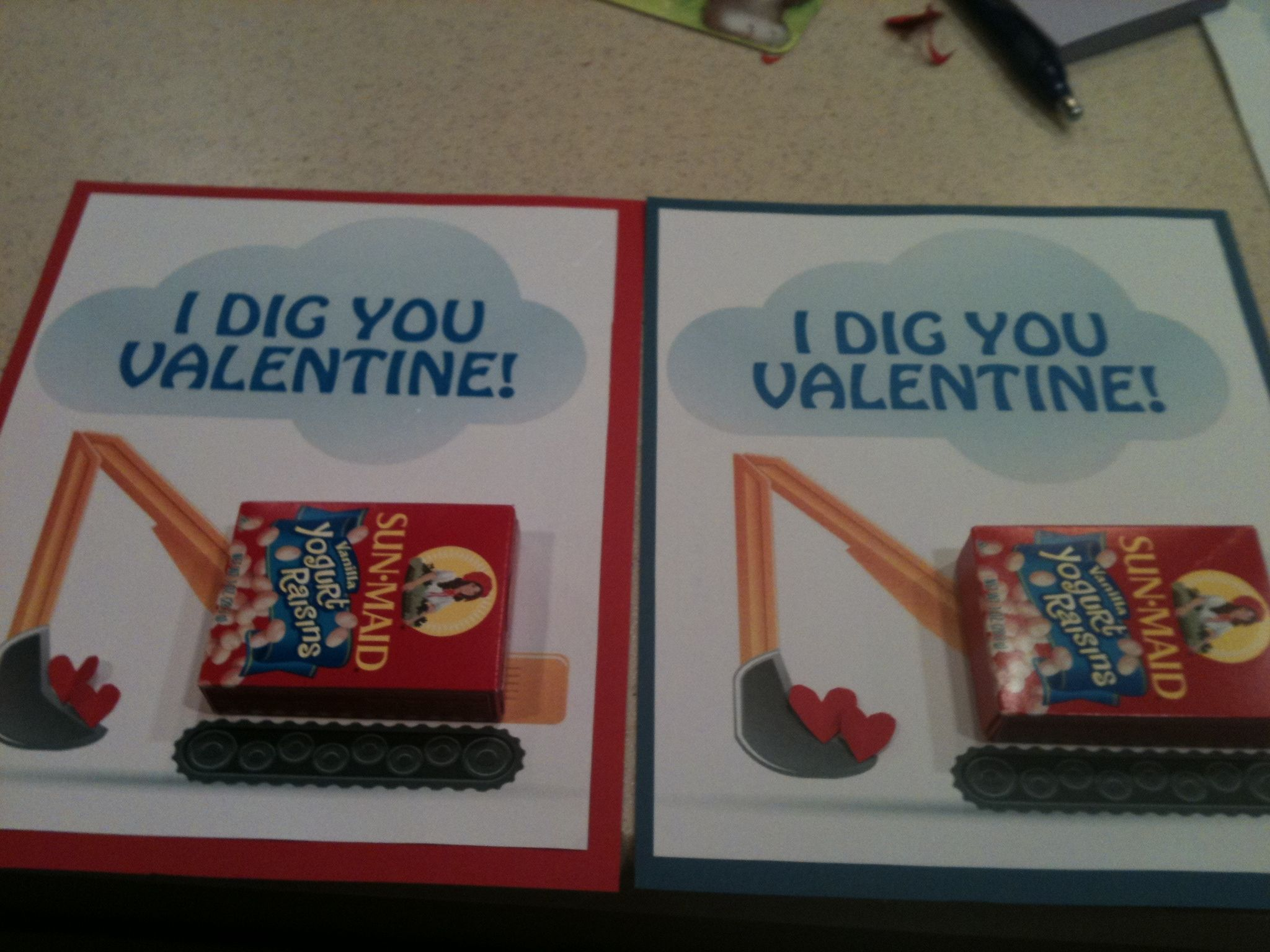 Construction Valentines 2 year old boys of the world rejoice