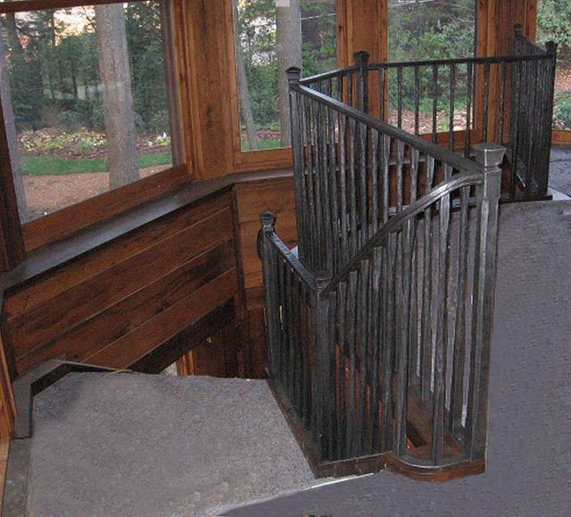 Best Rustic Hand Forged Stair Railing Stair Railing Wrought 400 x 300