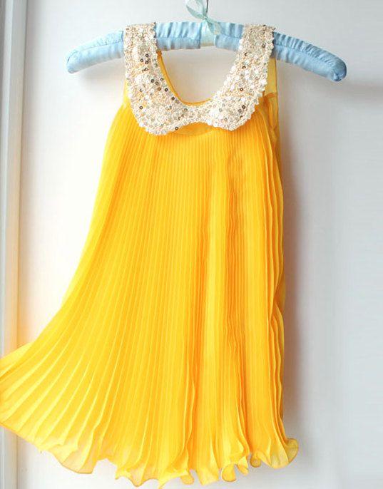 ff049fce01 Flower Girl Dress Girls Vintage Yellow Dress by KhambralCouture ...