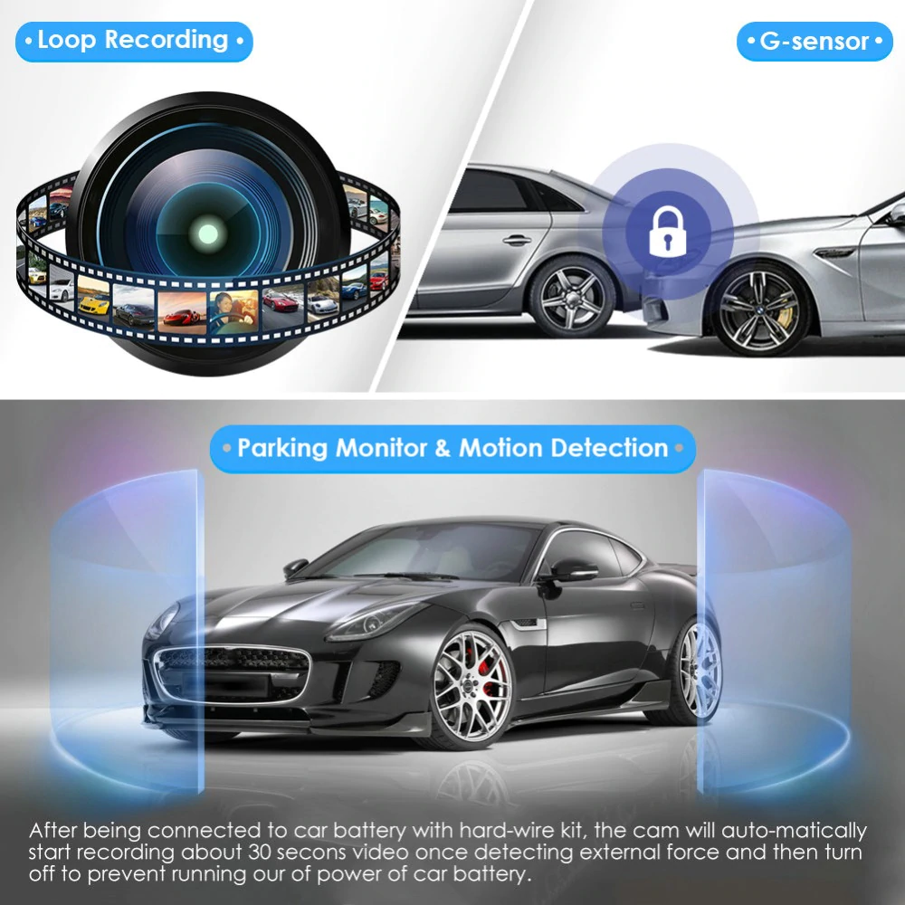 Azdome M06 4k 2880 2160p Wifi Car Dvrs Recorder Dash Cam Dual Lens