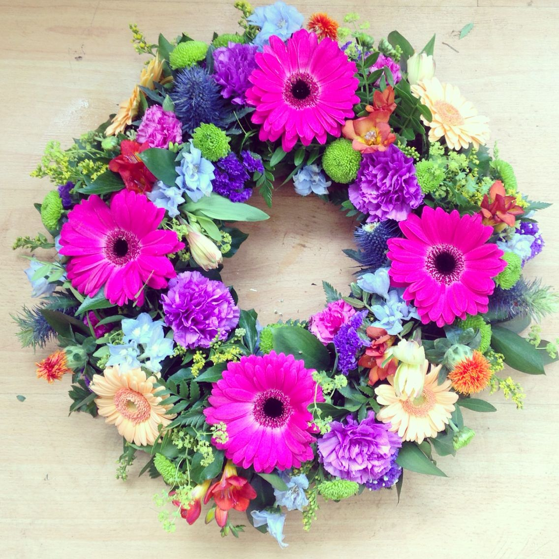 Gerbera Wreath Flower Arrangements Pinterest Gerbera Sympathy