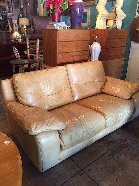 Sold Anti Social Modern Italian Leather Loveseat Casa Victoria Vintage Furniture On Los Angeles Sunset Boulevard Leather Loveseat Love Seat Vintage Sofa