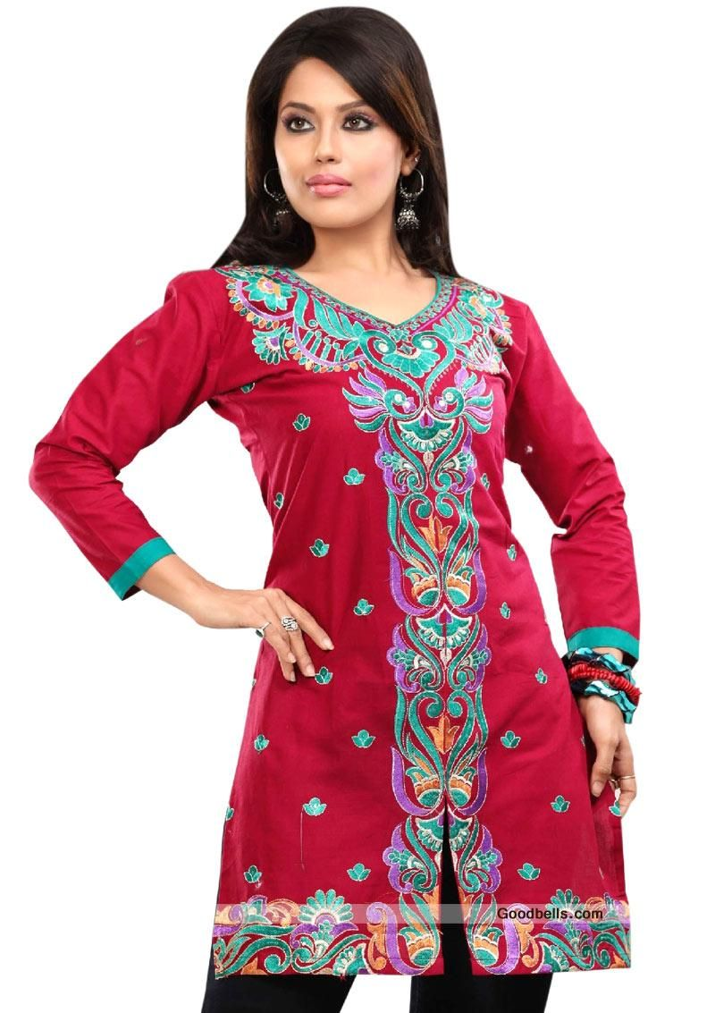 643ca65286 Pin by Goodbells.com on Rakhi Gifts | Embroidered kurti, Rakhi gifts, Neck  pattern