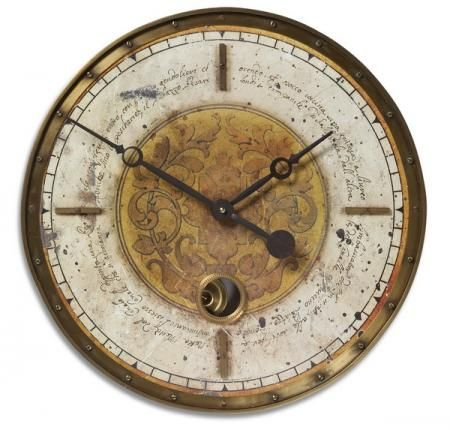 Found it at Clockway.com - 18in Designer Weathered Wall Clock - LUT1240
