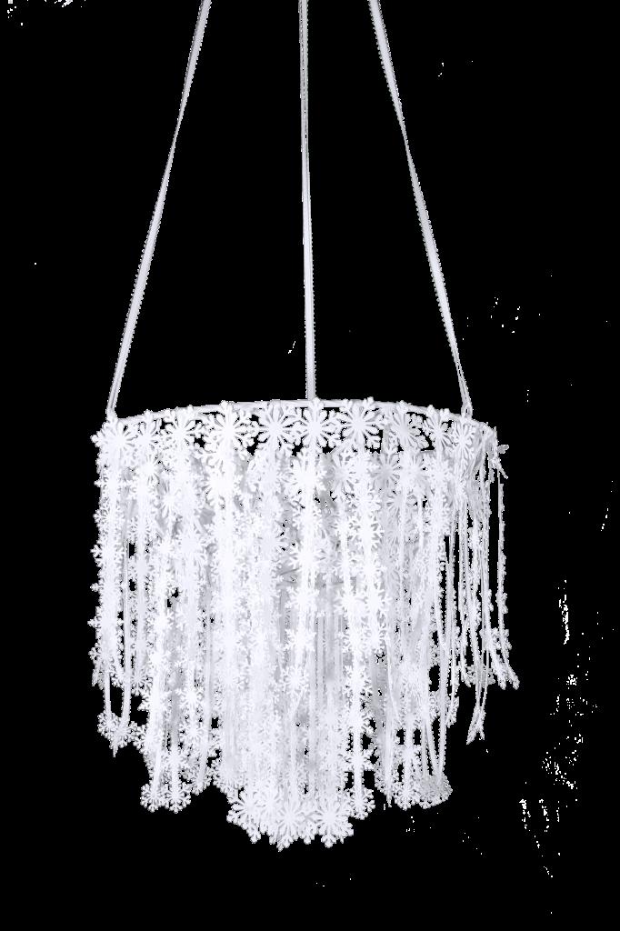 DIY Snowflake Chandelier Tutorial Use White Staples Instead Of - Beautiful diy white flowers chandelier