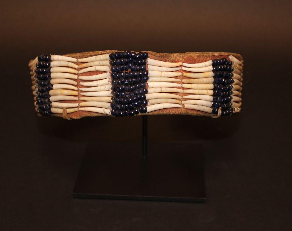 Northwest Coast Native American dentalium shell and
