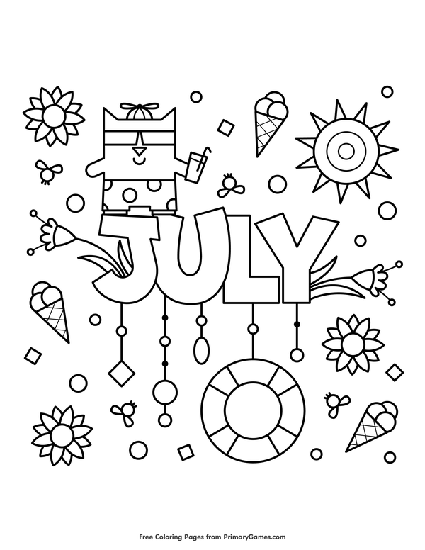 Free Printable Summer Coloring Pages Ebook For Use In Your Classroom Or Home From Primarygames Print Summer Coloring Pages Coloring Pages Fall Coloring Pages