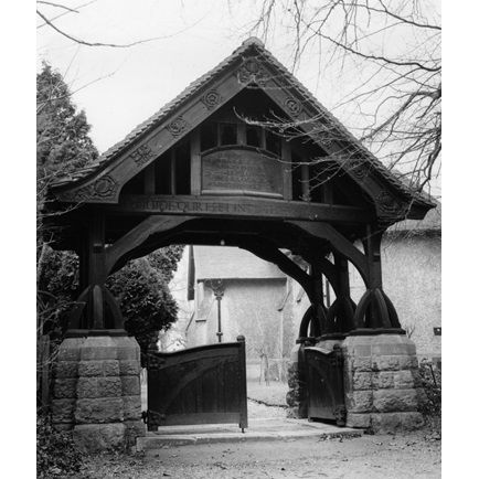 Lych Gate, St. Mary the Virgin, Great Warley, Essex [1904 Eric Gill].