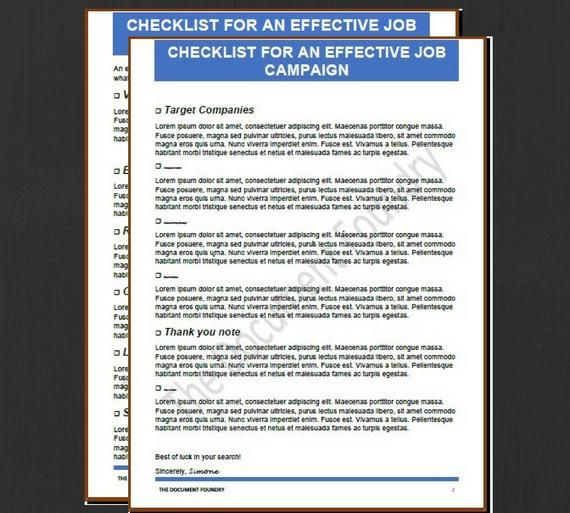 Job Search Checklist, Career, Resume, Resume Template Instant