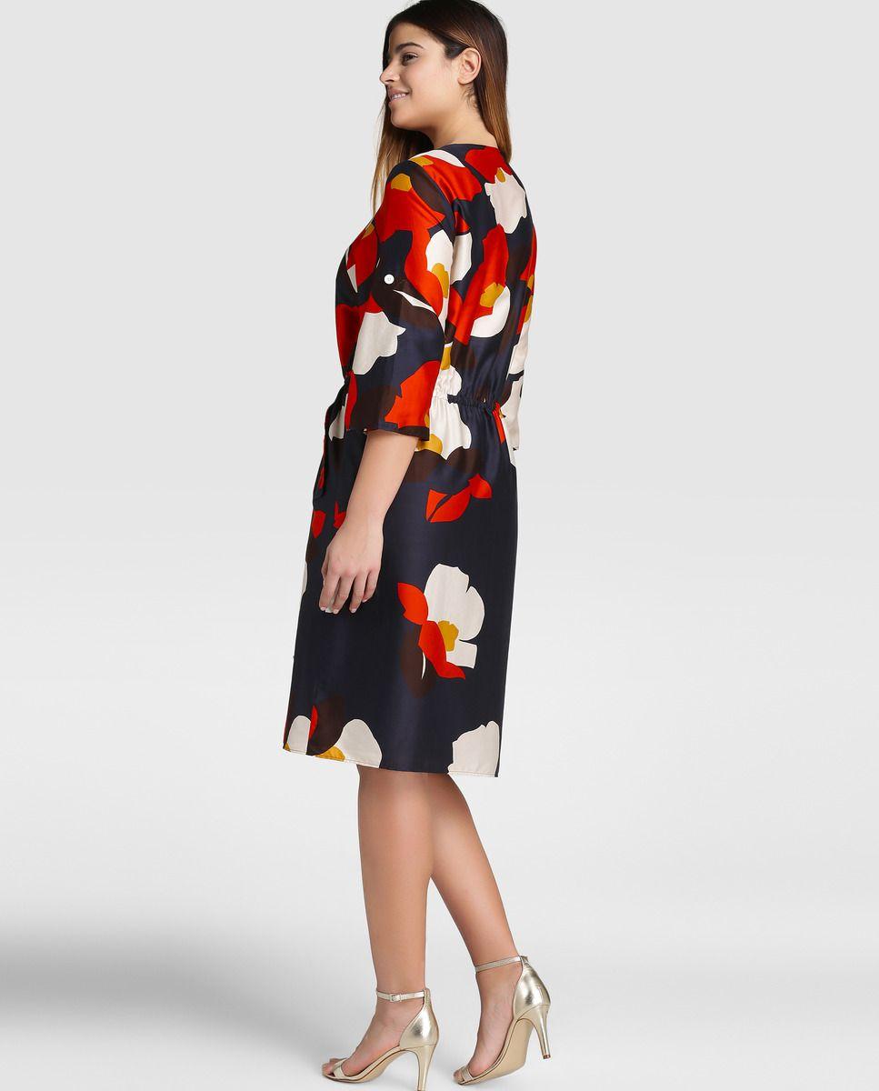 Vestido corto estampado de mujer talla grande Síntesis XXL · Síntesis XXL ·  Moda · El Corte Inglés