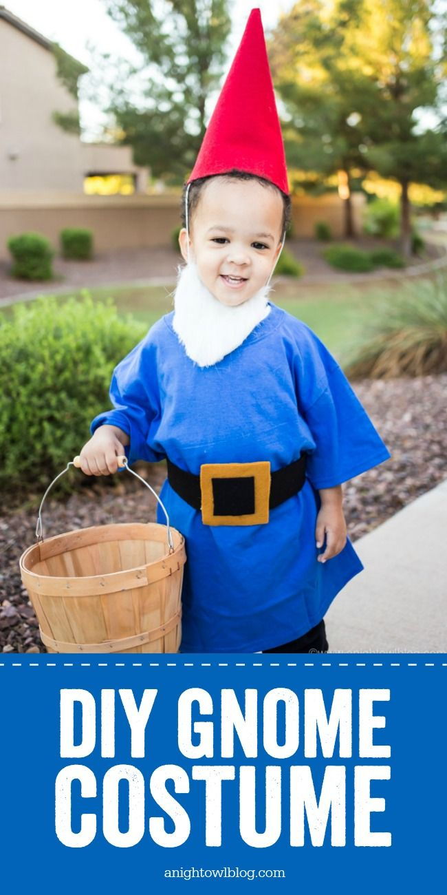 No-Sew Garden Gnome Costume