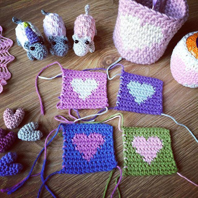 flo_and_dot crochet hearts   crochet   Pinterest   Ganchillo y Tejido
