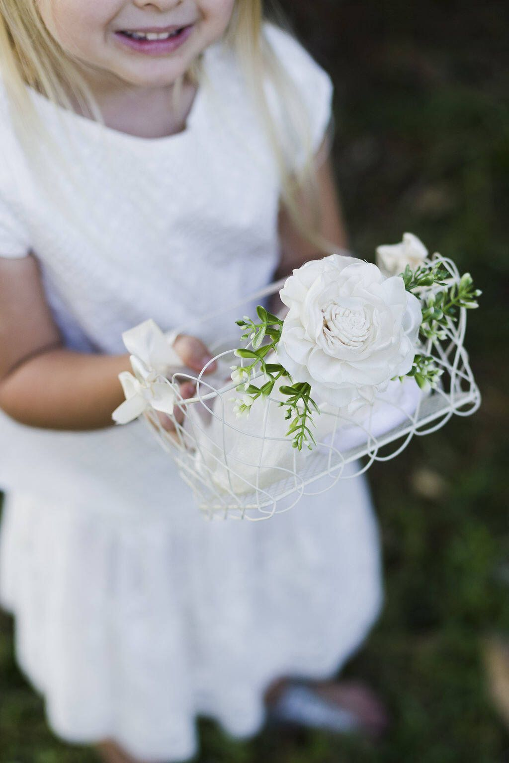 d078d27fe Mini Wire Flower Girl Basket | Wire Basket | Flower Girl | Scallop Edges|  Rectangle