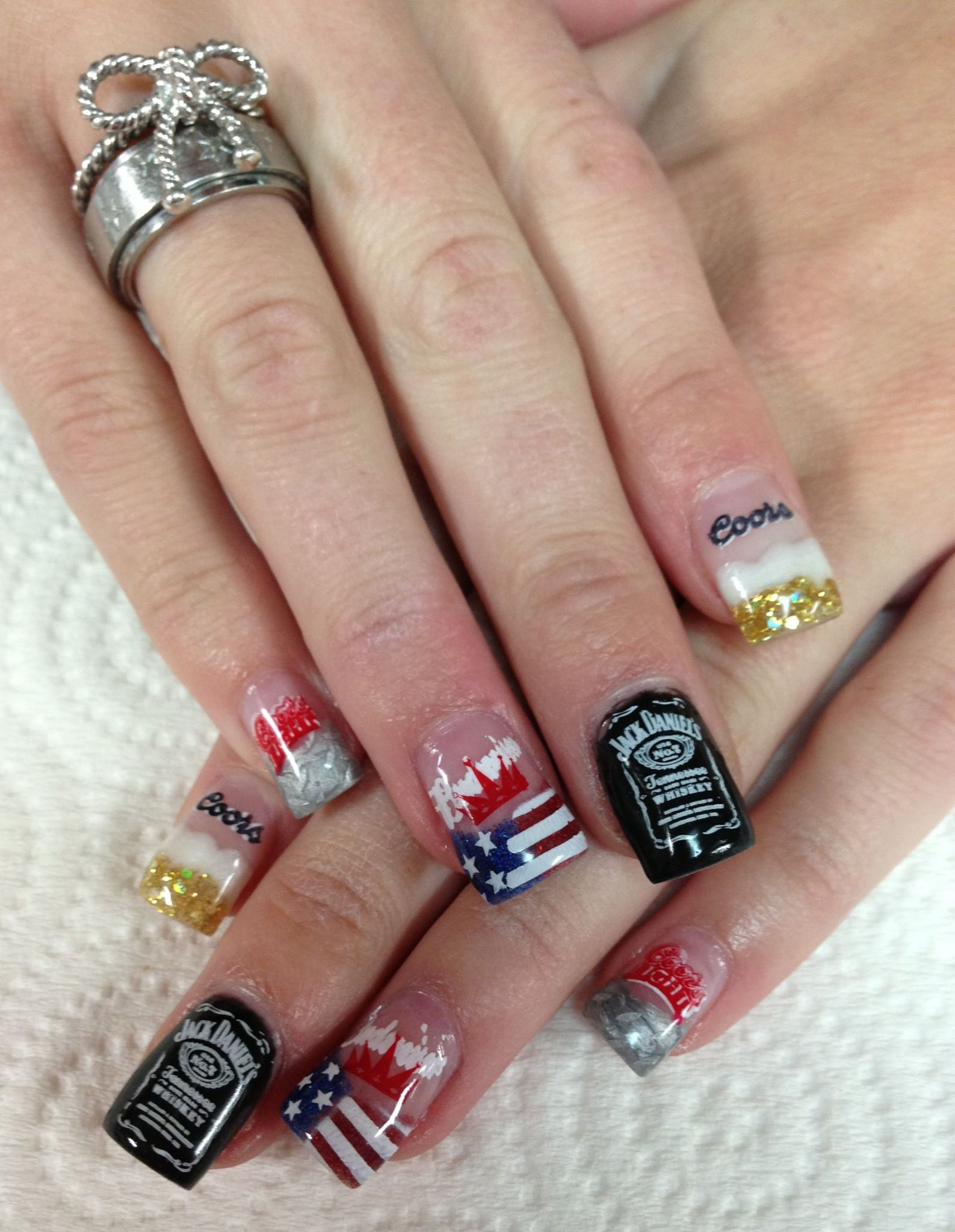Redneck nails for night in the country, yerington, nv Beer Nails ...
