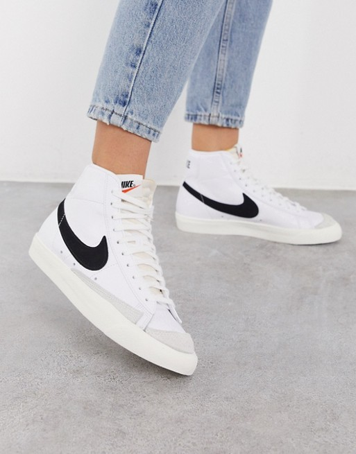 Blazer Mid Outfit : blazer, outfit, Blazer, Trainers, White/black, Sneakers, Fashion, Outfits,, Fashion,, Shoes